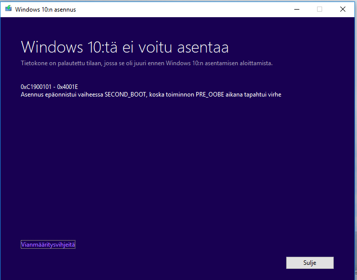 Jukka's IT-related blog: Windows 10 upgrade from 1709 to