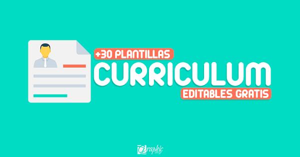 +30 plantillas de curriculums creativos editables 2017 (parte II)
