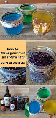 Homemade air fresheners using essential oils