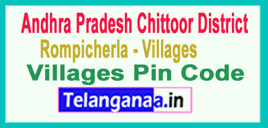 Chittoor District Rompicherla Mandal and Villages Pin Codes in Andhra Pradesh State