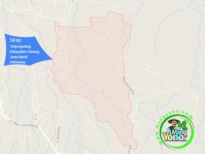 PETA : Desa Sirap, Kecamatan Tanjungsiang, Kab Subang