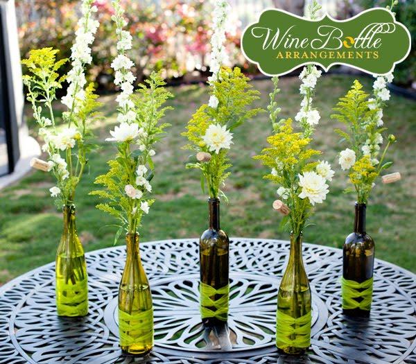 Flower Arrangements In Wine Bottles: Marry2Love: DIY 4: Wine Bottle Arrangements