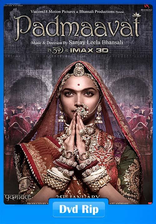 Padmaavat 2018 Hindi 720p HQ PRE DVDRip   400MB 480p   200MB HEVC Poster