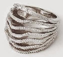 Silver Tentacle Leaf Ring
