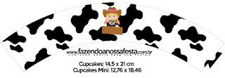 Granjera Rubia: Wrappers y Cupcakes para Imprimir Gratis.