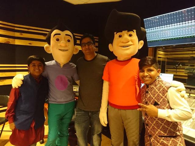 Child artists Sartaj and Sarvar sing for the new animated series - Gattu Battu