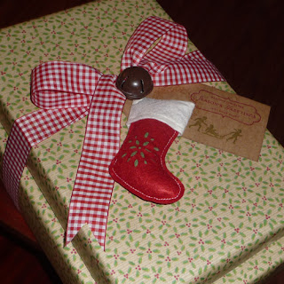 Gingham Ribbon Christmas Bow