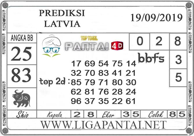 "PREDIKSI TOGEL ""LATVIA"" PANTAI4D 19 SEPTEMBER 2019"