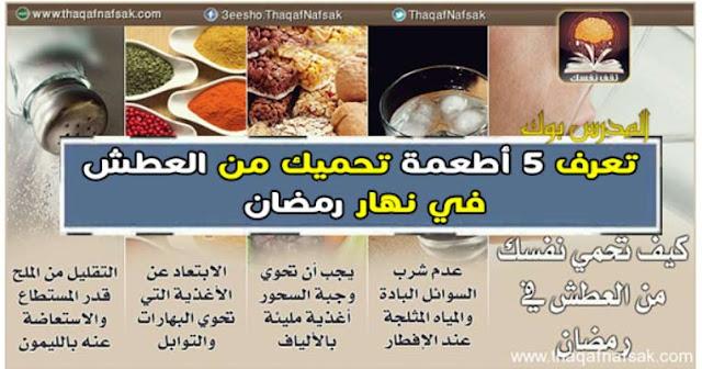 تعرف 5 أطعمة تتناولها علي السحور للتغلب علي العطش في نهار رمضان