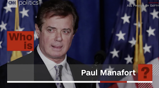 Paul Manafort, Trump's former campaign chief, indicted for illegally working with the Russians.