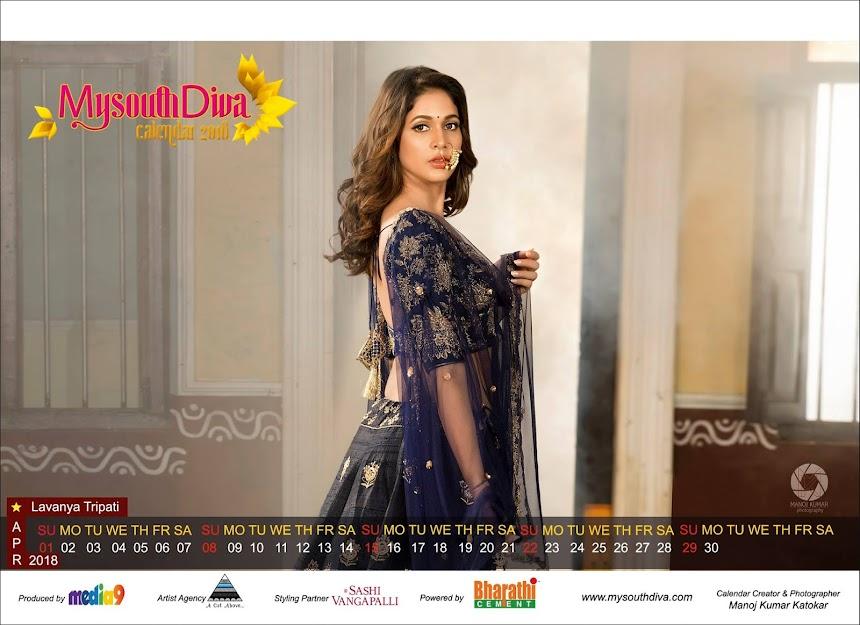 My South Diva Calendar 2018 - Lavanya Tripati