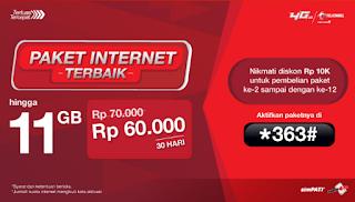 Info Cara Daftar Paket Internet Vaganza Telkomsel 6GB - 11GB