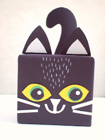 Cute Kitty Gift Box Craft- Such a fun way to wrap gifts or decorate for Halloween!