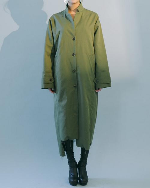 Frayed Hem Notched Lapel Coat