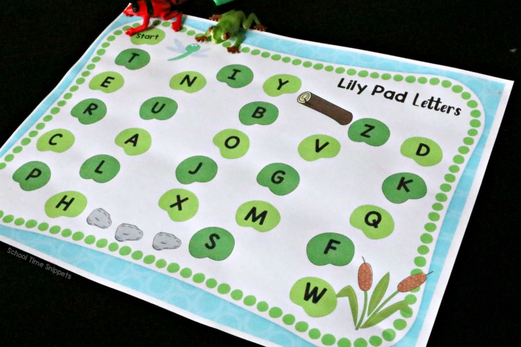 FROG THEME ALPHABET GAME BOARD