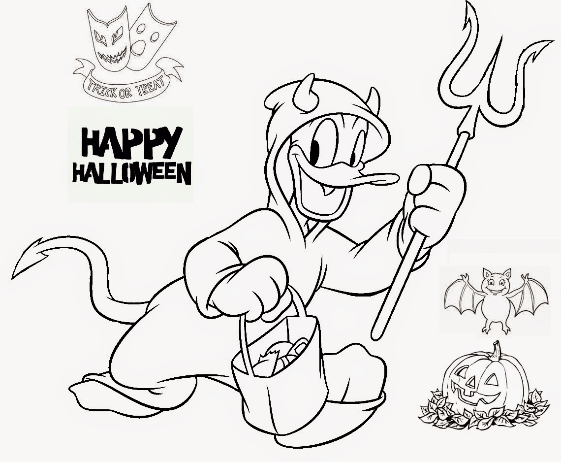 Donald Duck Halloween Coloring Pages Coloring Pages