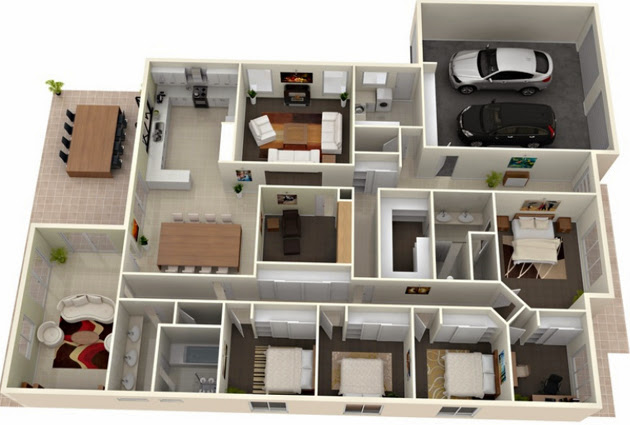 3D Modern House Plans Projects Collection - Decor Units