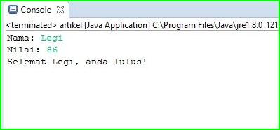 Program Java - Cek Nilai Kelulusan Menggunakan Looping IF-Else