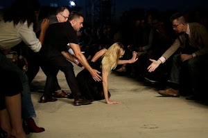 Candice Swanepoel takes tumble in parade in New York