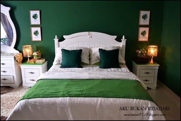 Aku Bukan Bidadari Bilik Tidur Kod Cat Emerald Green