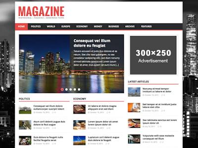 download gratis MH Magazine lite template responsive wordpress