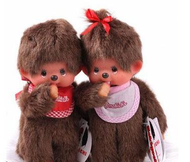 ... dos bonecos Monchhichi