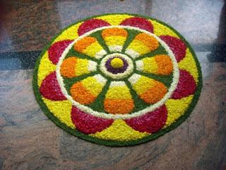 Onam Pookalam Simple Designs