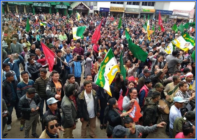Gorkha Ekta Maha Rally in Darjeeling