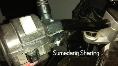 Mengatasi Rumah Baut Dol Slek patah Handle Kopling motor Vixion kiri