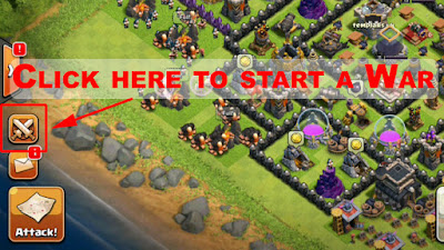 Starting a war clash of clans