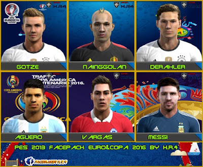 PES 2013 Facepack Euro & Copa 2016 by facemakerh.r.4