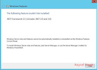 .NET Framework 3.5 on Windows Server 2012
