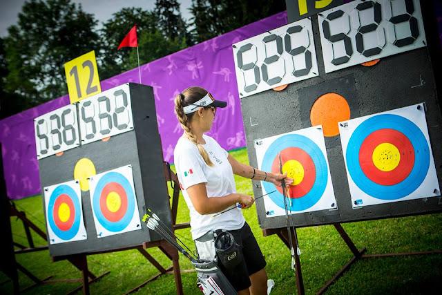 Linda Ochoa tras uno de sus duelos en los Juegos Mundiales 2017