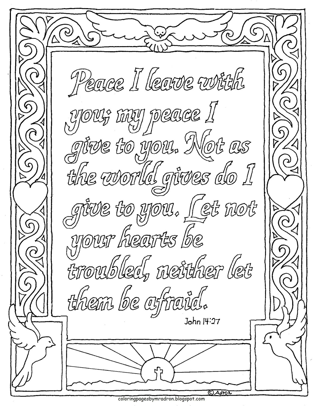 Coloring Pages For Kids By Mr Adron John 14 27 Coloring