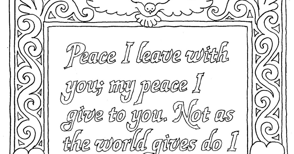 Coloring Pages for Kids by Mr. Adron: John 14:27 Coloring