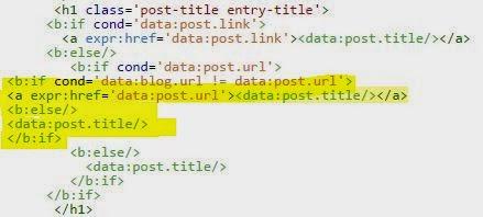 Menghilangkan Hyperlink di Judul Posting