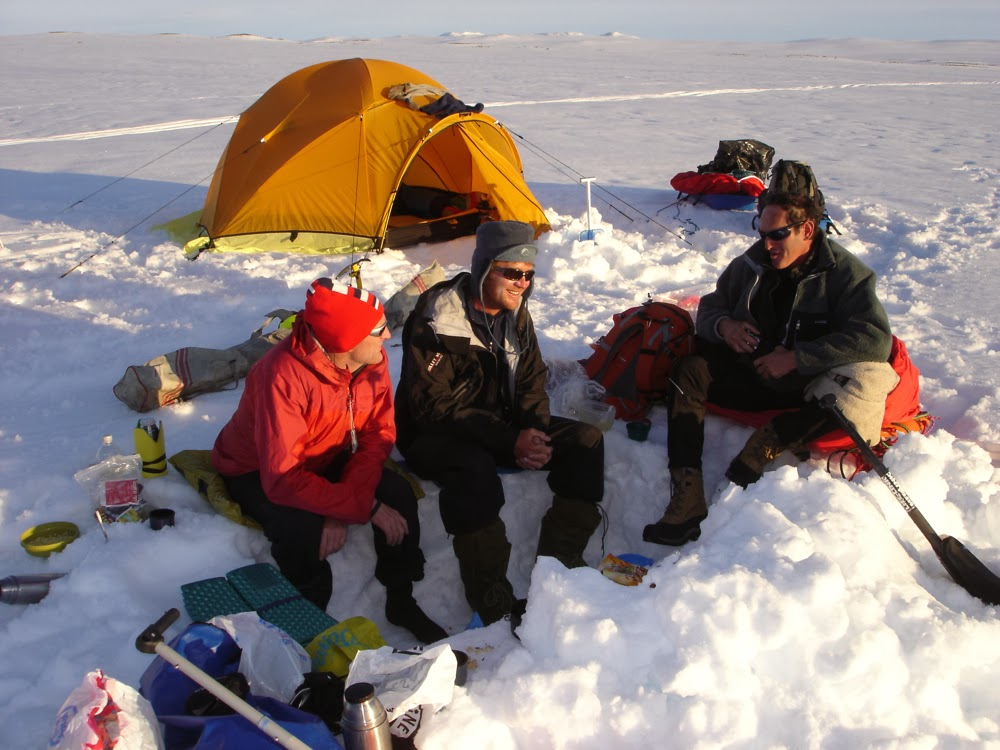 Camp on the Hardangervidda plateau. North face VE25 tent.