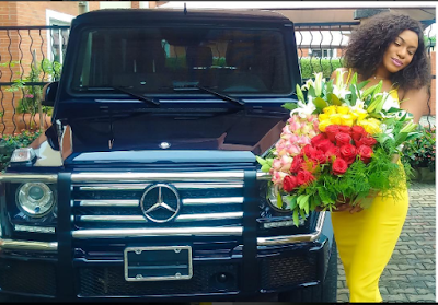 MONEY IS GOOD!!! NOLLYWOOD ACTRESS CHIKA IKE BUYS HERSELF AN EXPENSIVE CAR FOR HER 31ST BIRTHDAY (PHOTOS)