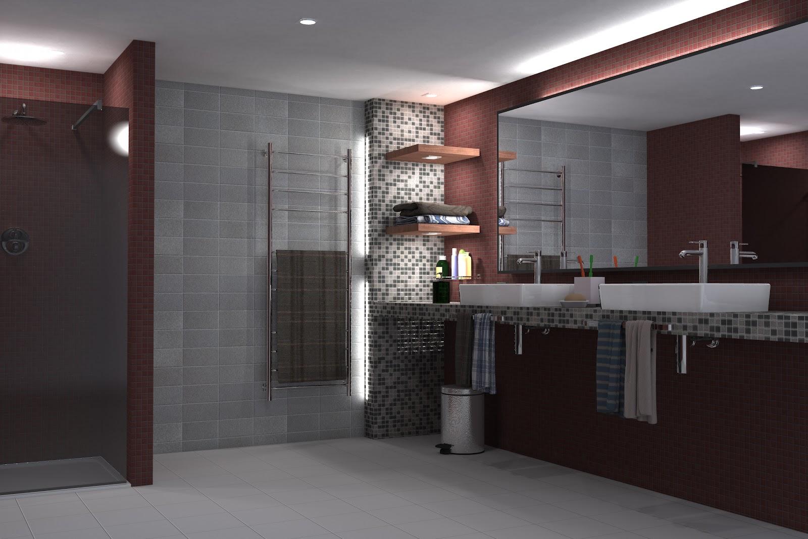 Render architettonici interno bagno for Planner bagno 3d