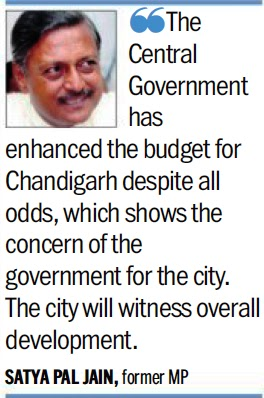 'The Central Government has enhanced the budget for Chandigarh despite all odds, which shows the concern of the government for the city. The city will witness overall development - Satya Pal Jain, former MP