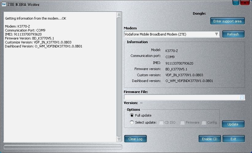 Zte mf180 firmware Update