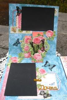 альбом,поп-ап,pop-up, розы,цветы,бабочка,чипборд,надпись