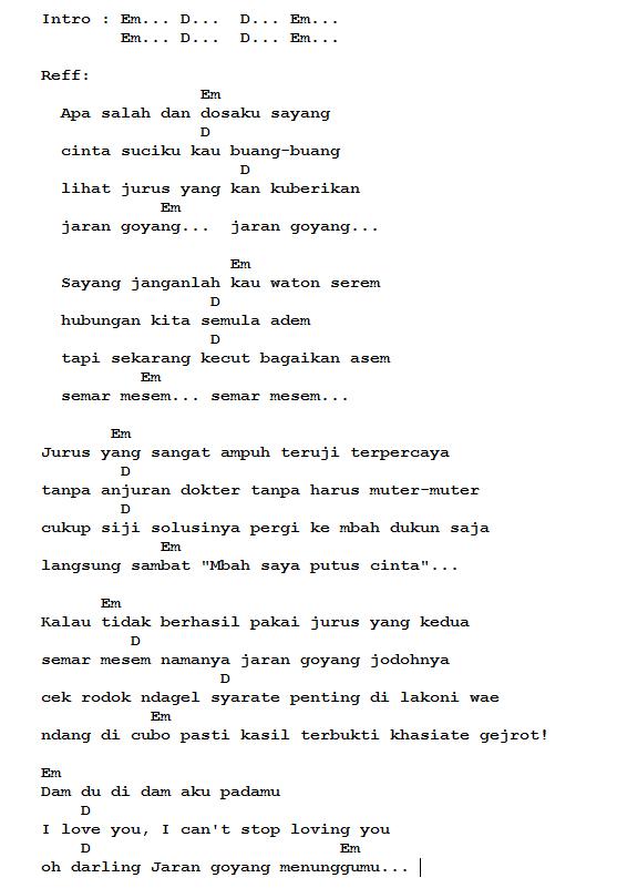 Chord lirik lagu jaran goyang nella kharisma lirik dan not jaran goyang 1 stopboris Image collections