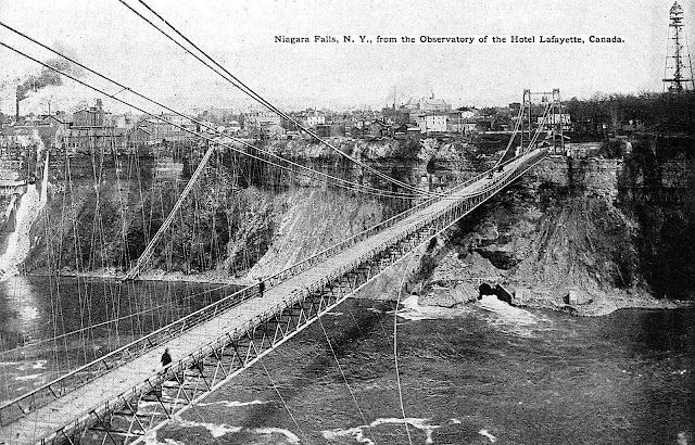 a photograph of the Niagara Falls 1897 bridge