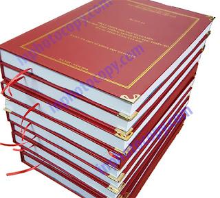 Đóng sách bìa cứng bìa mạ vàng
