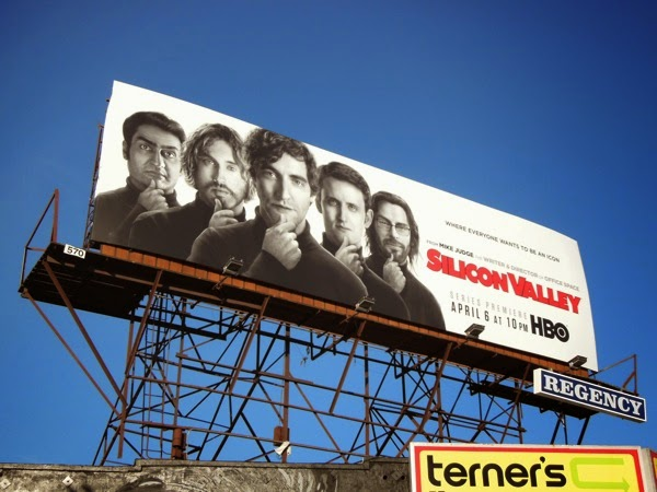 Silicon Valley series premiere TV billboard