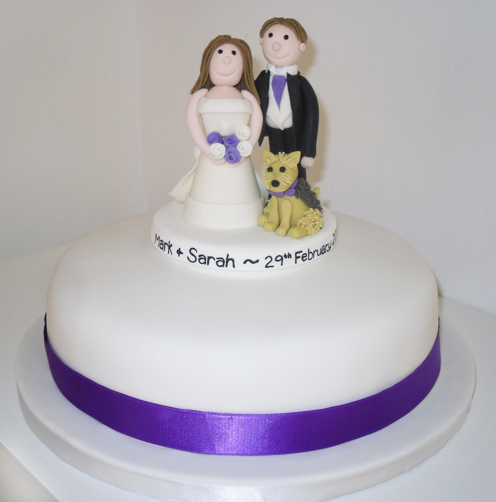 The Coloured Bubble Cakery Simple White Wedding Cake With Bride