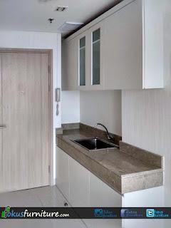 Kitchen set dengan model minimalis untuk apartemen