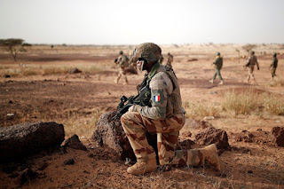 Operation Barkhane; French soldiers providing outer layer security
