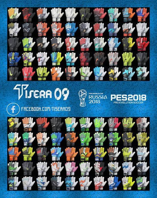 New Glove Pack HD (100 Gloves) PES 2018